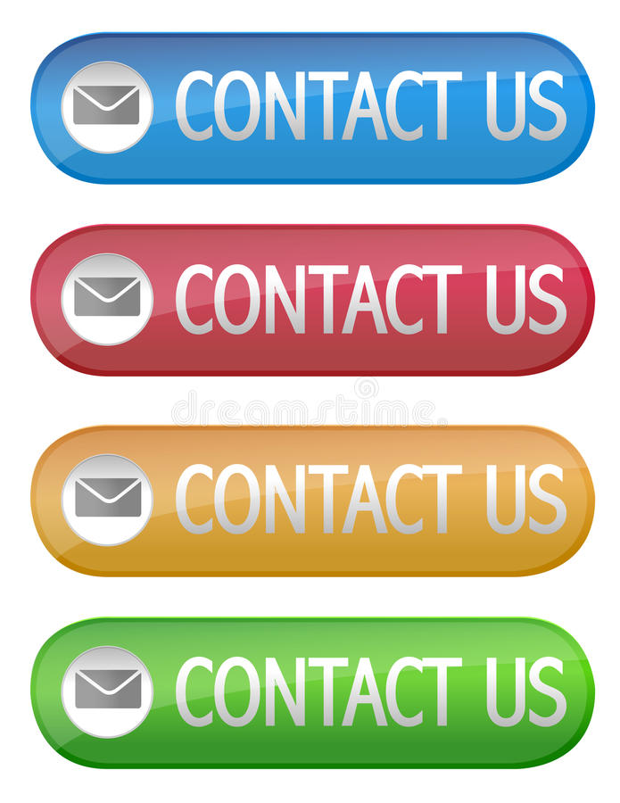 Download Contact Us button stock vector. Image of bubble, customer - 15591144