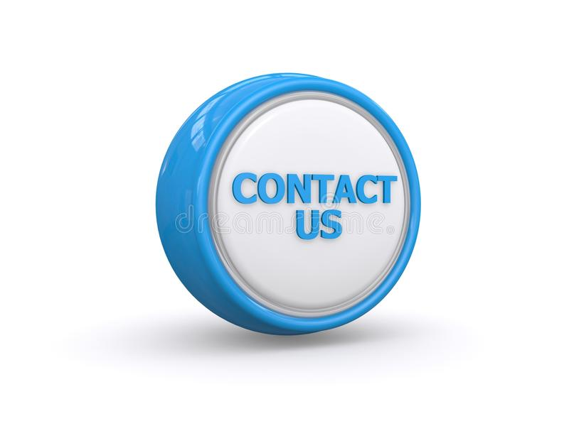 Contact us button. 3d illustration of contact us button isolated on white background