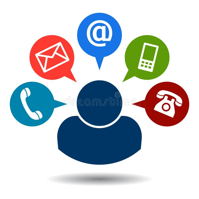 Free Contact Us Call Mail Icons Stock Photo - 117513360