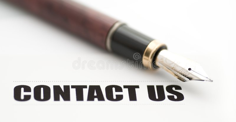 Contact us card stock image