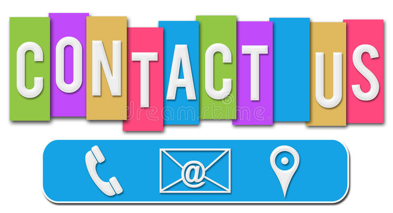 Contact Us Colorful Stripes Stock Illustration Illustration Of