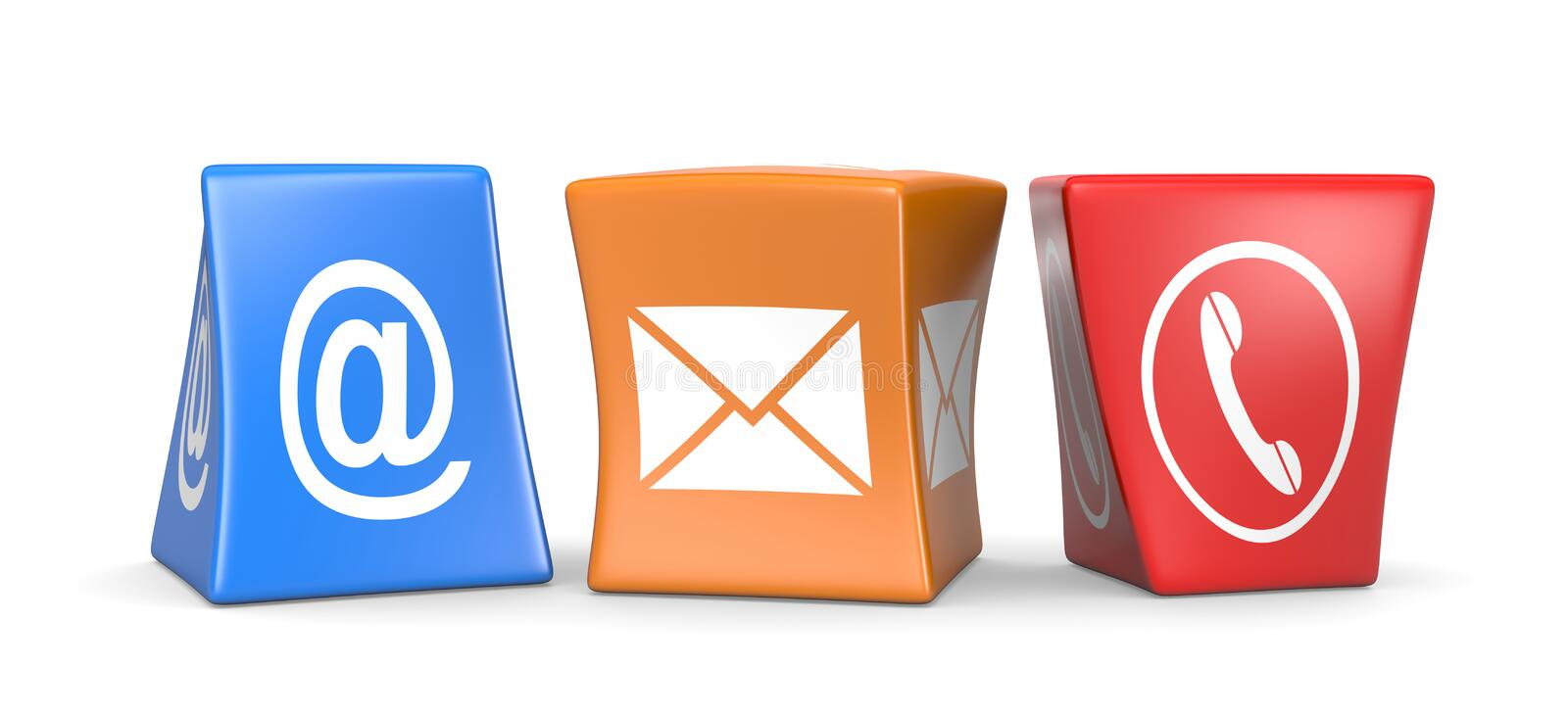 Contact Us Cubes stock illustration