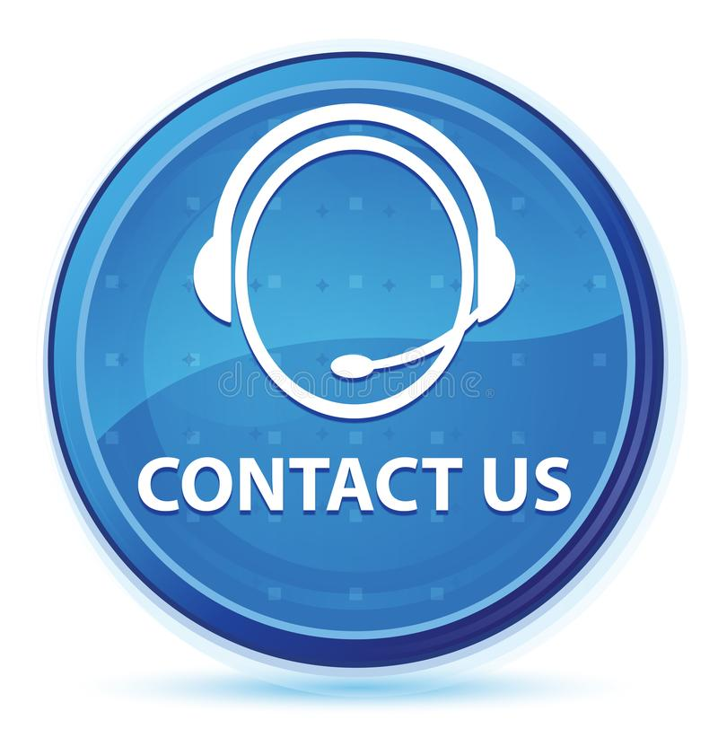 Contact us (customer care icon) midnight blue prime round button. Contact us (customer care icon) isolated on midnight blue prime round button abstract royalty free illustration