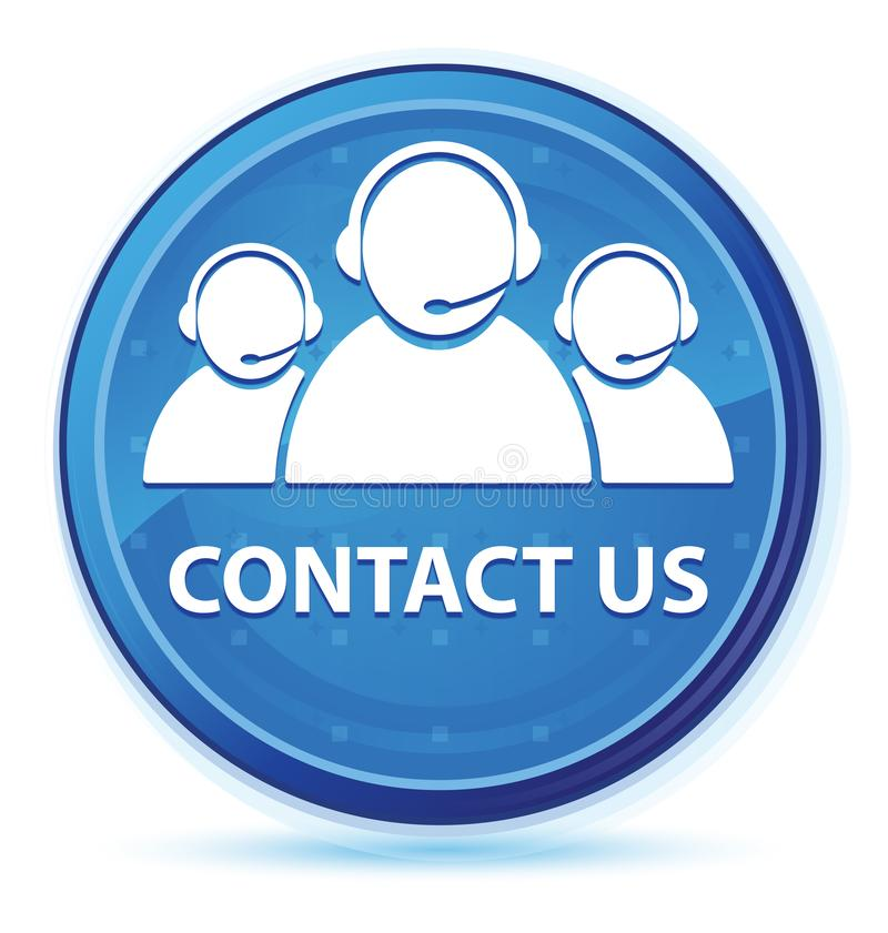 Contact us (customer care team icon) midnight blue prime round button. Contact us (customer care team icon) isolated on midnight blue prime round button abstract stock illustration