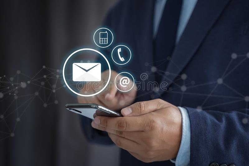 CONTACT US (Customer Support Hotline people CONNECT ) Call Customer Support royalty free stock image