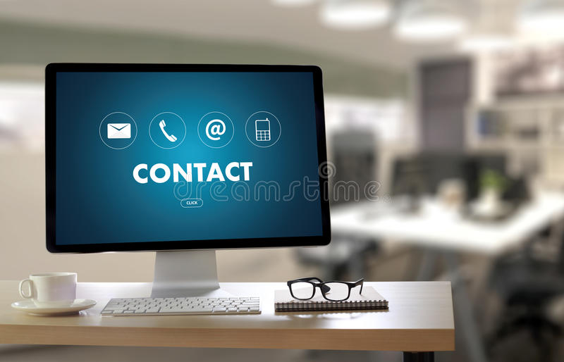 CONTACT US (Customer Support Hotline people CONNECT ) Call Customer Support royalty free stock images