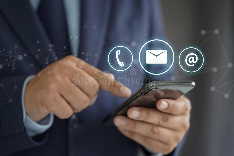 CONTACT US (Customer Support Hotline people CONNECT ) Call Customer Support royalty free stock photos