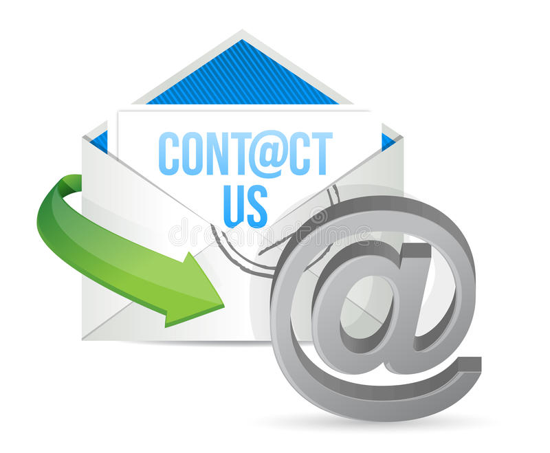 Contact us E mail icon illustration design. Over a white background royalty free illustration
