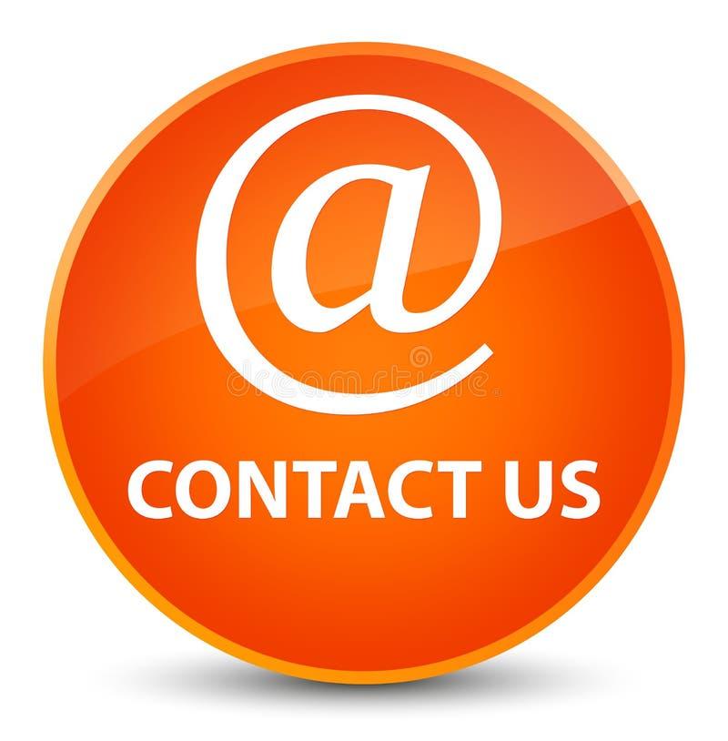 Contact us (email address icon) elegant orange round button. Contact us (email address icon) isolated on elegant orange round button abstract illustration royalty free illustration
