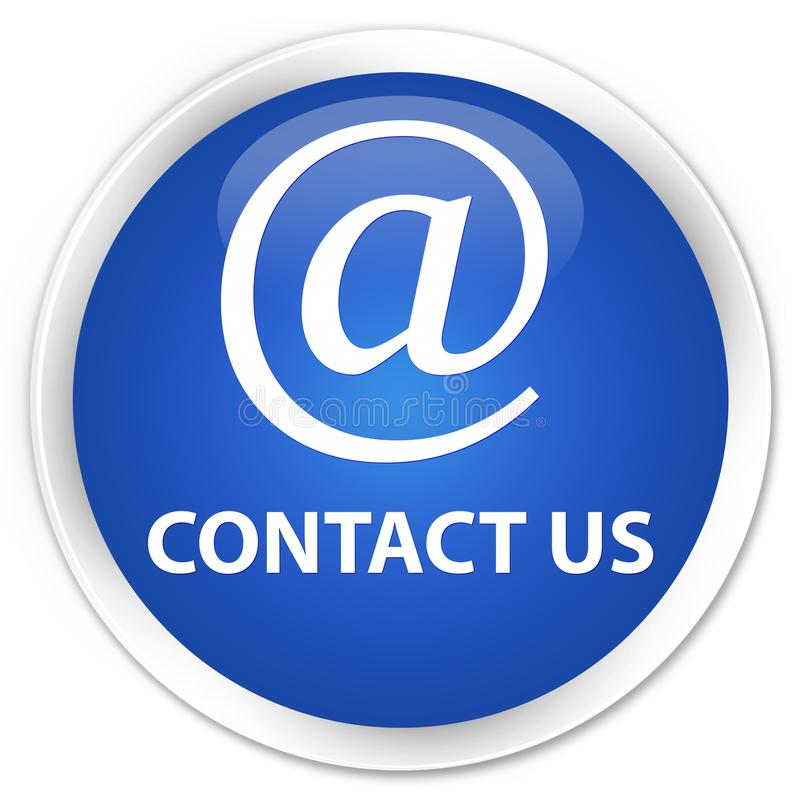 Contact us (email address icon) premium blue round button vector illustration