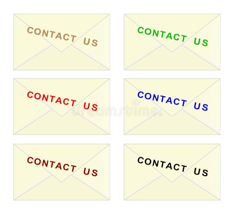Download Contact Us Envelope - Cdr Format Stock Photography - Image: 26775622