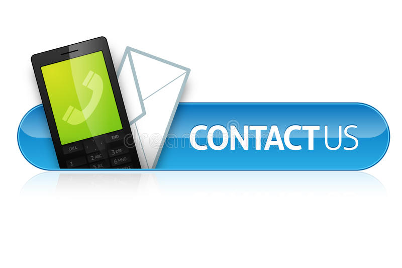 Contact Us Icon. Detailed icon/button for displaying contact information