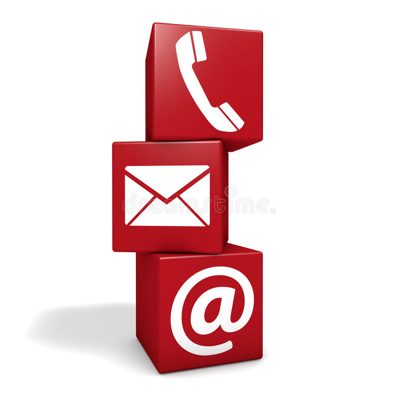 Contact Us Red >> Contact Us Icon Cubes Stock Illustration - Image: 50565672
