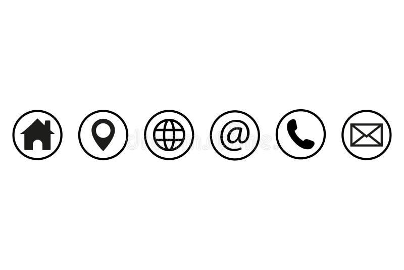 Contact us icons. Web icon set. Vector illustration.  stock illustration