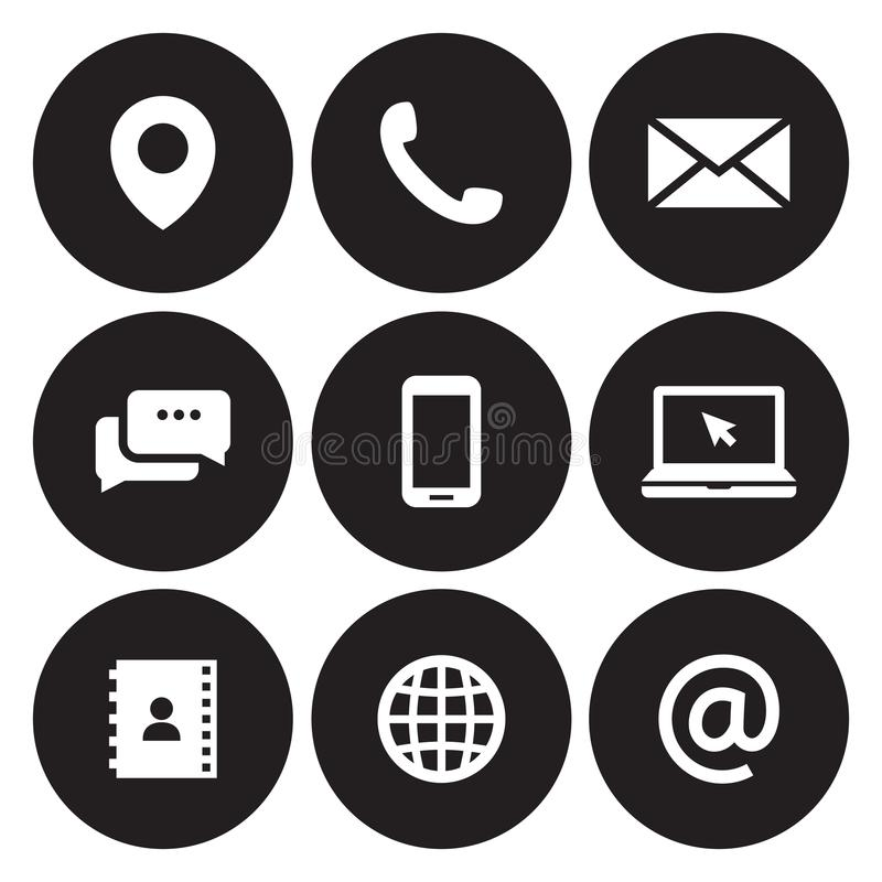 Contact us icons vector illustration