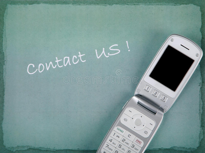 Download CONTACT US With Phone And Copy Space Stock Image - Image: 15678901