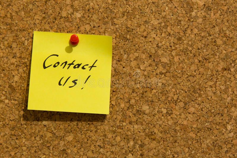 Contact us post-it note royalty free stock photo