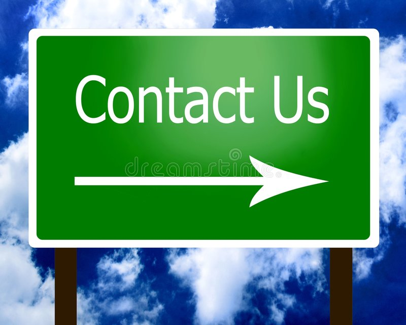 Contact Us sign guidepost arrow right royalty free illustration