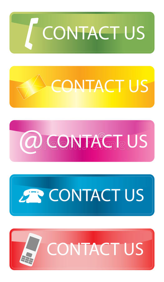 Download Contact us stock vector. Image of icons, detail, contacting - 33702124