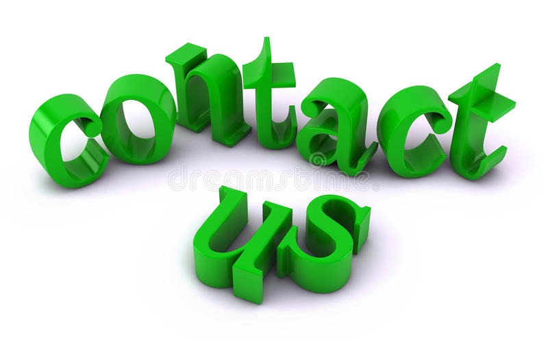 Contact Us Text Royalty Free Stock Photography