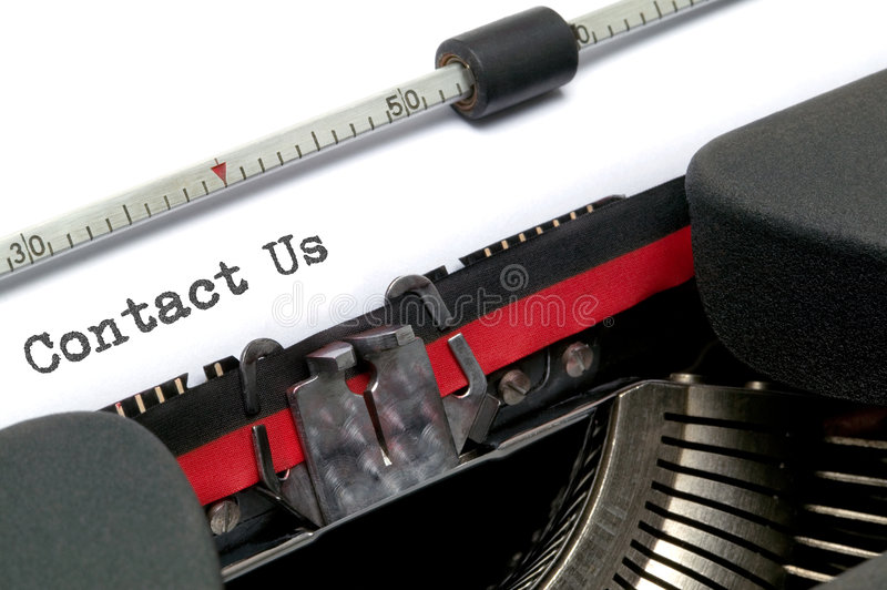 Download Contact Us typed stock photo. Image of technology, background - 6268200