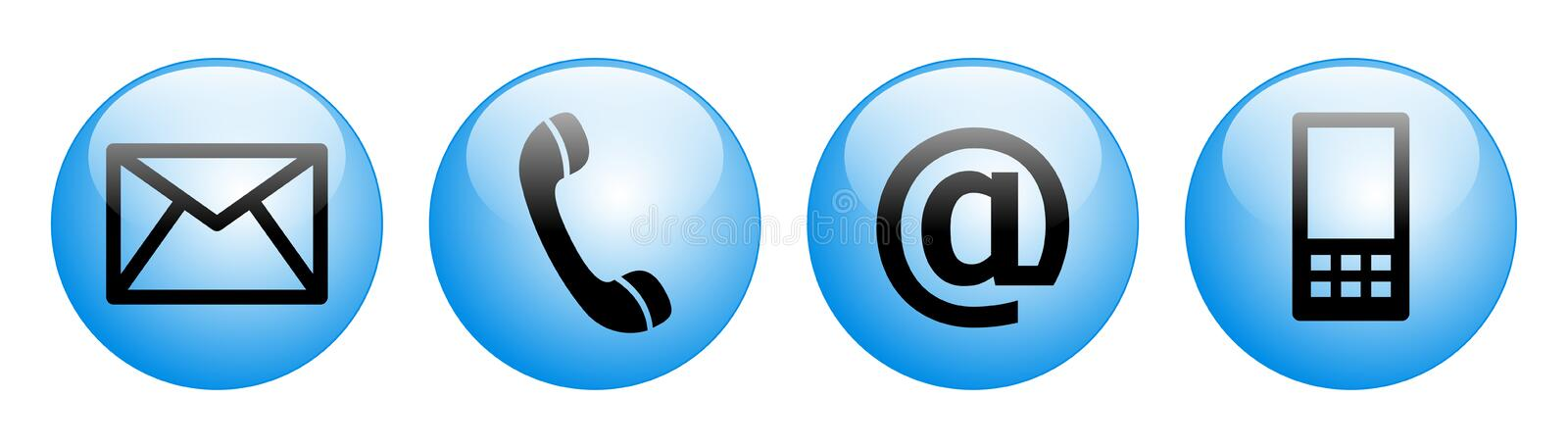 Contact us web buttons blue royalty free illustration