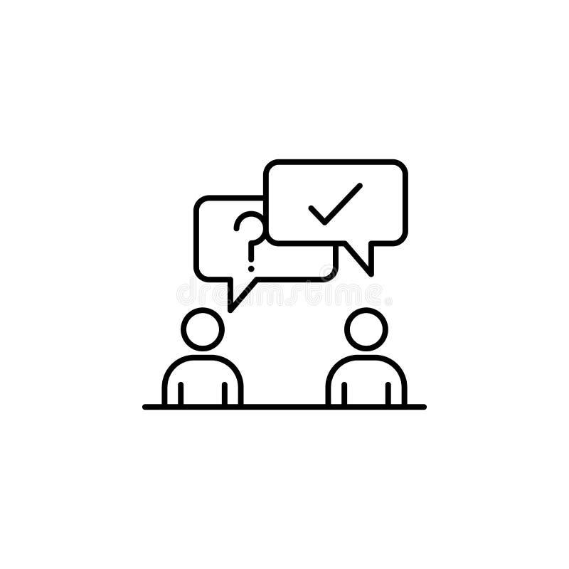 contact, vraagpictogram Element van een beroepspictogram voor mobiel concept en webapps Het dunne lijncontact, vraagpictogram kan vector illustratie