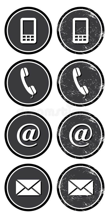 Download Contact Web And Internet Retro Icons Set Stock Illustration - Illustration: 25870753