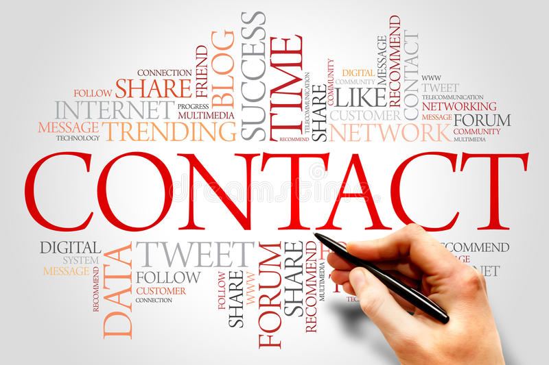 Contact royalty free stock image
