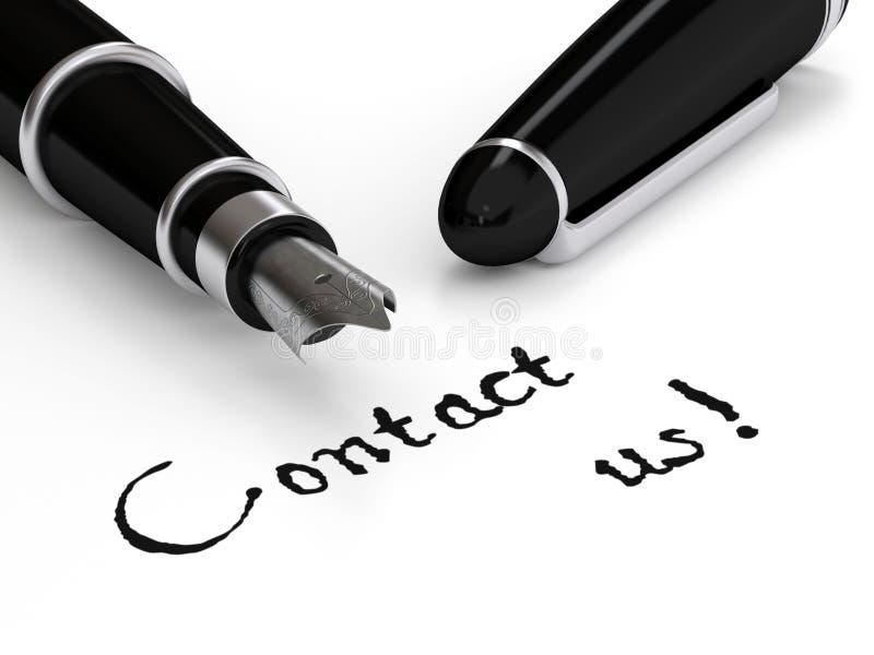 Contacta-nos ilustração royalty free