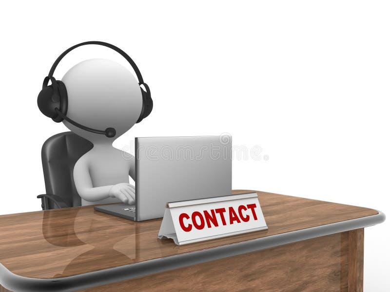 Contactconcept stock illustratie