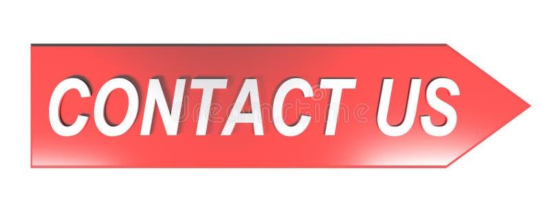 CONTACTE E.U. na seta vermelha - rendição 3D ilustração stock