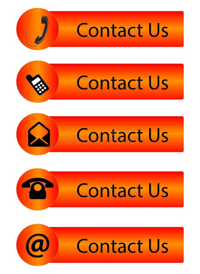 Contacte-nos ilustração stock