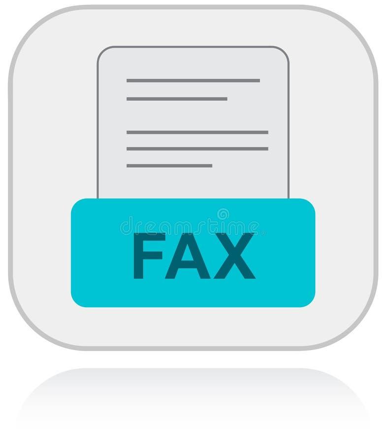 Contacte-nos através do fax Ícone do apoio ao cliente ilustração royalty free