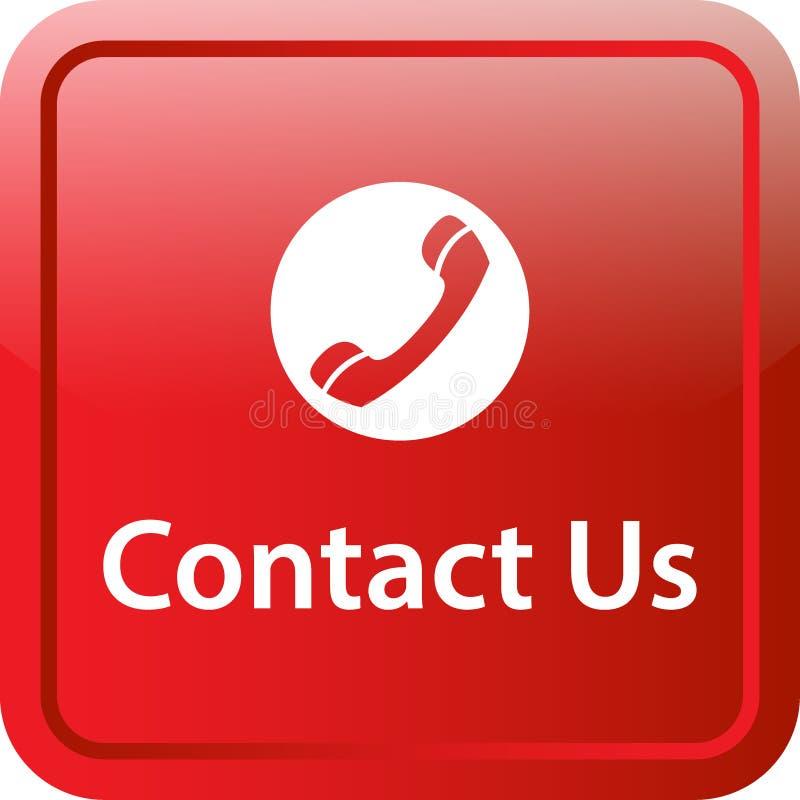 Contacte-nos botão da Web do ícone ilustração royalty free