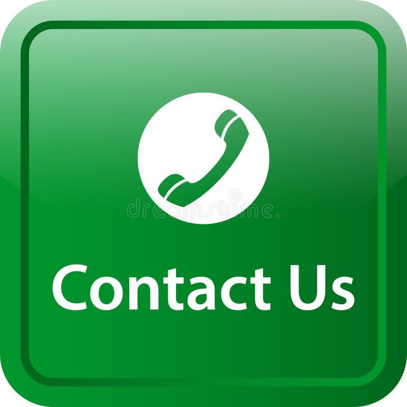 Contacte-nos botão da Web do ícone ilustração stock