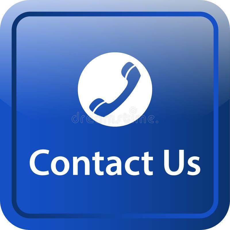 Contacte-nos botão da Web do ícone ilustração do vetor