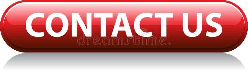 Contacte-nos botão vermelho ilustração royalty free