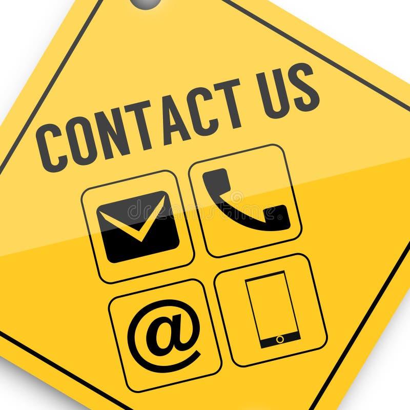 Contacte-nos, cartaz da imagem do negócio, qualidade super ilustração do vetor