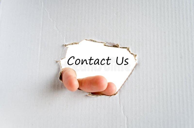 Contacte-nos conceito do texto imagens de stock