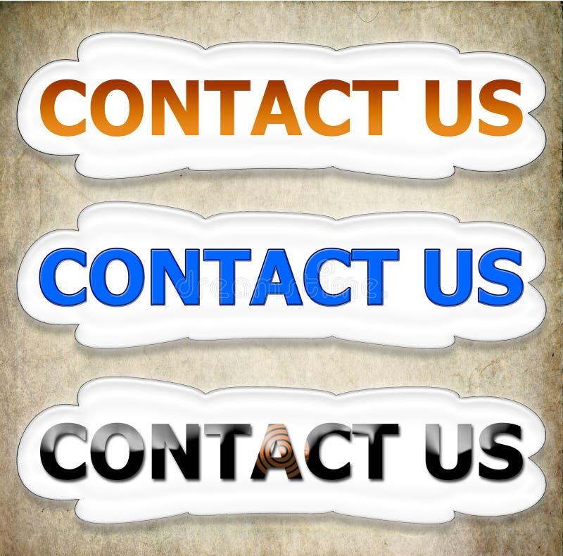 Contacte-nos nuvem do botão nas cores fotografia de stock royalty free