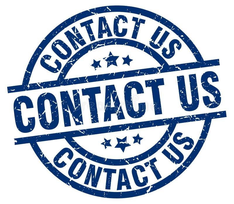 Contacte-nos selo ilustração royalty free