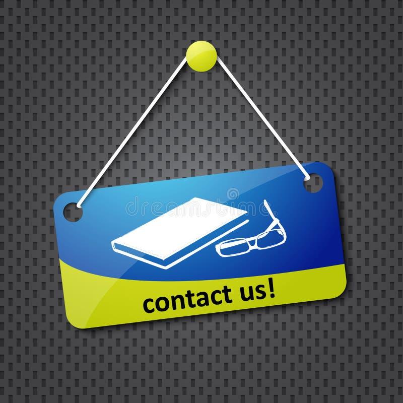Contacte-nos sinal ilustração royalty free