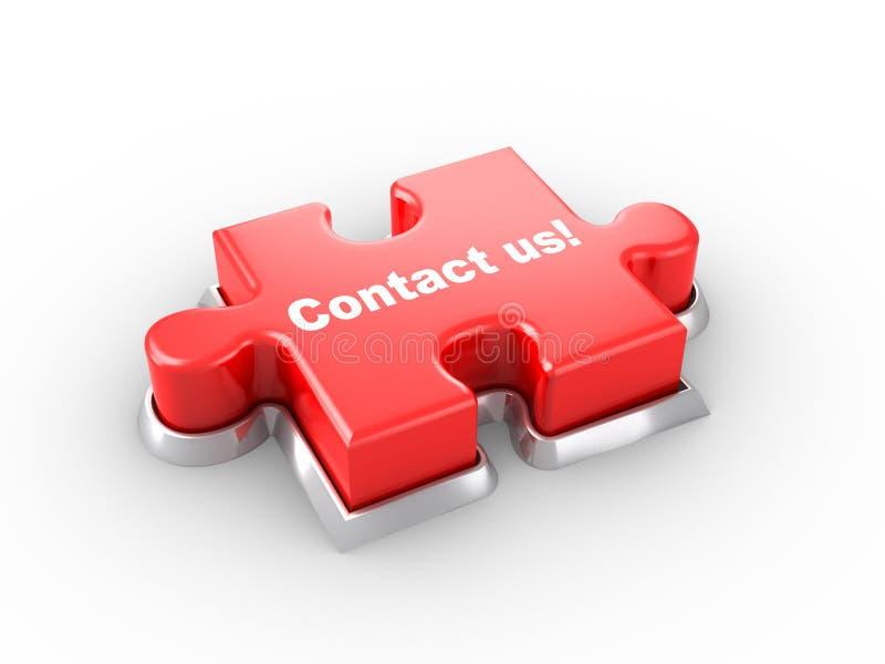 Contacteer ons! royalty-vrije illustratie