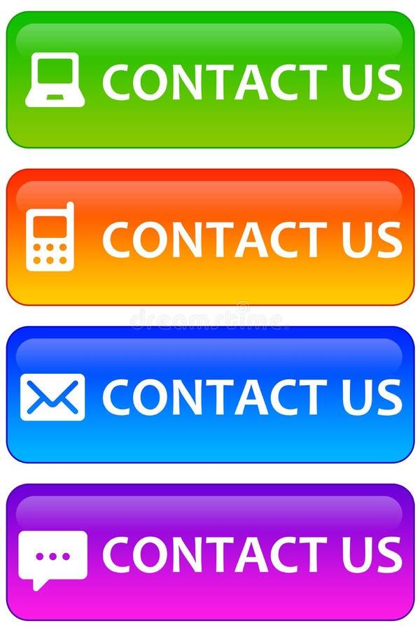 Contacteer ons vector illustratie