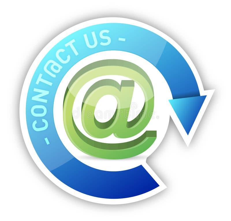 Download Contacteer ons stock illustratie. Illustratie bestaande uit blauw - 29509403
