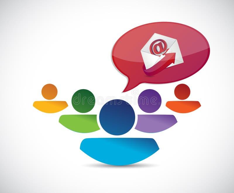 Contacteer ons. de illustratieontwerp van het ondersteuningsteam vector illustratie