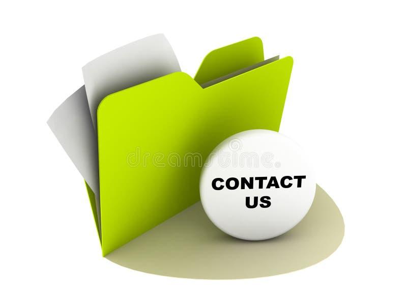 Contacteer ons knoop stock illustratie