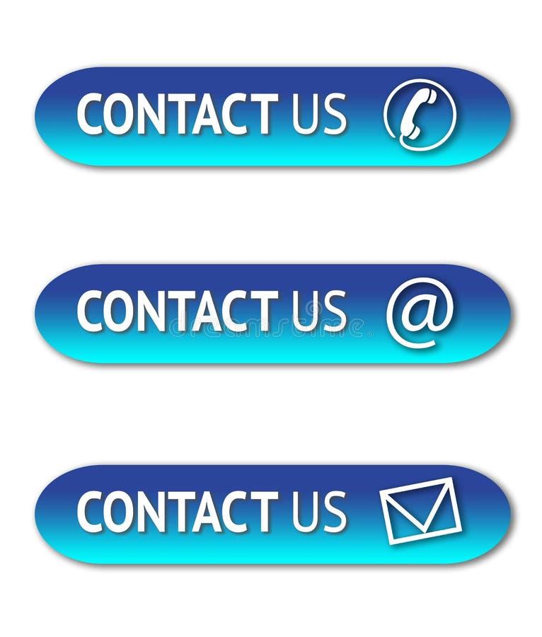 Contacteer ons knopen stock illustratie