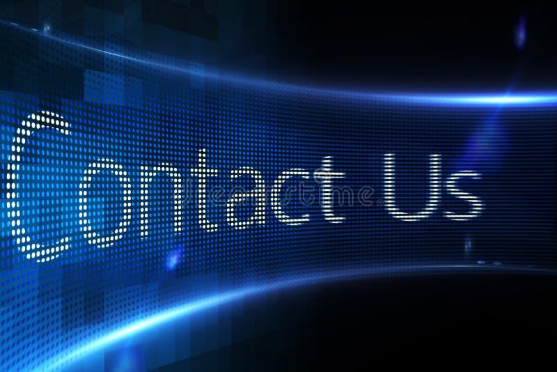 Contacteer ons op het digitale scherm